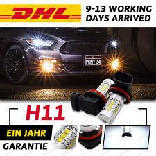 H8 H9 H11 1920LM 100W 16 SMD LED Nebelscheinwerfer Tagfahrlicht Lampe Weiß 6000K