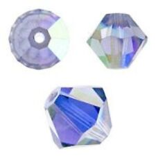 Swarovski Crystal Bicone. Tanzanite 2X Color. 4mm. Approx. 144 PCS. 5328