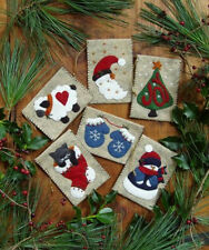 Rachaels of Greenfield Christmas Ornament Kit  Gift Bags Wool Felt  Makes 6