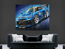 NISSAN GTR SUPERCAR  GIANT WALL POSTER ART PICTURE PRINT LARGE HUGE