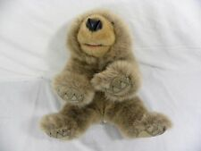 """Vtg Folkmanis Folktails Brown Grizzly Bear Puppet 18"""" Therapy School Storytime"""