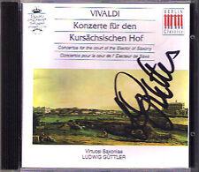 Ludwig GÜTTLER Signed VIVALDI Konzert Kursächischen CD Virtuosi Saxoniae Guttler