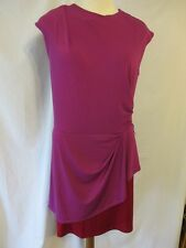 Narciso Rodriguez Polyester Size L Mulberry Burgundy Sheath Dress SR$70 NEW