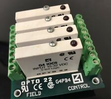 OPTO 22 G4PB4 MOUNTING RACK & 4 G4IDC5 INPUT MODULES