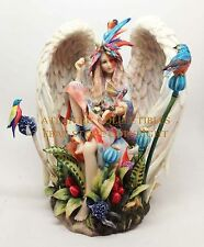 Damsel Angel Sanctuary Heavenly Garden Figurine and Wall Clock by Sheila Wolk
