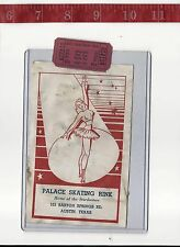 vintage lot roller rink decal & ticket Palace Austin Texas FREE SHIPPING