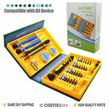 38 in1 Premium Screwdriver Set Repair Tool Kit Fix iPhone Laptop Macbook PSP UK