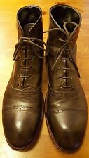 Authentic, MOMA - Dark Brown, Leather, Cap toe, Lace Up, Ankle Boots (Sz 9)