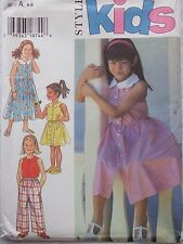 Amazing VTG 95 STYLE 2745 Girls Dress Top Skirt & Pants PATTERN 4-9 UC