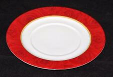 """Philippe Deshoulieres, Limoges, France, Red Ruby Roses, 10 3/8"""" Dinner Plate"""