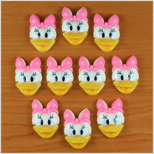 Lot 10 pcs Daisy Duck Resin Flatback Scrapbooking Girl Hair Bow Center Crafts A6