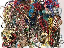 Huge Vintage To Now Necklace Lot- Wearable But Need Help- 11 Lbs- None Broken