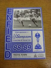01/04/1989 Enfield v Yeovil Town  . Footy Progs (aka bobfrankandelvis) are pleas
