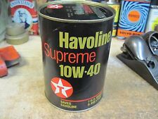TEXACO HAVOLINE SUPREME MOTOR oil 1 QT can ORIGINAL GAS SERVICE STATION vintage