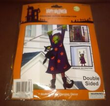 "Crashed Witch Halloween Hanging Decoration 60"" tall"