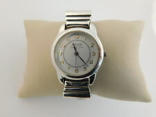 ECCLISSI STERLING SILVER WATCH LEATHER BAND QUARTZ MODERNIST STYLE