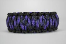 550 Paracord Survival Bracelet King Cobra Black/Purple/Violet Raven Camping