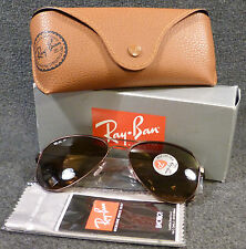 New Ray Ban RB 3523 012/83 Matte Brown POLARIZED Lens Aviator Sunglasses 59mm