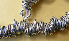 LARGE HOLE SILVER BEADS FITS ON HEAVY CHAIN OR CORD NECKLACE R BRACELET 88-TOTAL