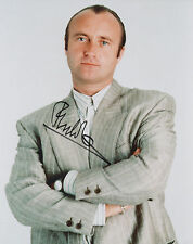PHIL COLLINS Signed 10x8 Photo IN THE AIR TONIGHT COA
