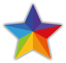 LGTB Gay Pride Rainbow Star Car Bumper Sticker Decal 5'' x 5''