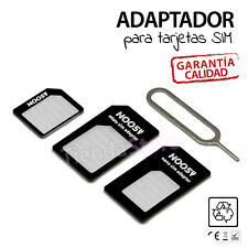 ADAPTADOR TARJETA NANO SIM CARD A MICRO IPHONE 6 5 5S 4 4S 6 plus NANOSIM NORMAL