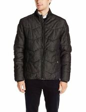 NEW CALVIN KLEIN JEANS BLACK QUILTED COTTON PUFFER STAND COLLAR JACKET SIZE L