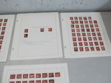 Nystamps British GB Penny Red stamp plating collection