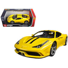 Bburago Ferrari Race & Play 458 Speciale Diecast Model Car 1:18 16002 Yellow