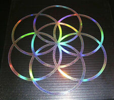 Seed of Life irisdecent Rainbow Silver.