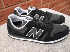 373 Negro Entrenadores Reino Unido NEW BALANCE talla 11 EU 45.5
