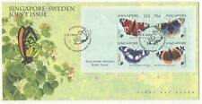 Singapore cover - 1999 Czeslaw Slania Butterfly Miniature Sheet stamp set on FDC