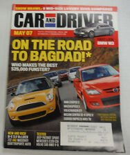 Car And Driver Magazine Mini Cooper S & Mazdaspeed 3 May 2007 052715R