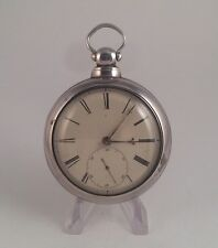 "1848 London Solid Silver Pair Case Fusee Pocket Watch ""W.Kneeshaw"" Maker"