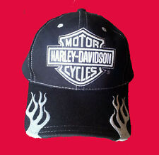 Harley-Davidson Mens silver bar shield tribal blade Baseball Cap hat