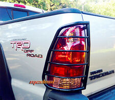 Custom Fit 05-15 Toyota Tacoma 2pc Black Tail Light Guards