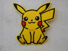 POKEMON  GO PIKACHO  NEW EMBROIDERED  SEW/ IRON ON NAME PATCH TAG