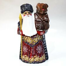 Carved wood toy  DED MOROZ, Jack Frost or Russian Santa Claus. Handmade #5