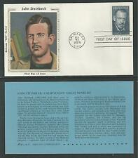 "# 1773 JOHN STEINBECK, Author Colorano ""Silk"" Cachet, 1979 First Day Cover"