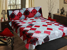 Homefabs 100% Cotton Double Bed Sheet with 2 Pillow Covers (DBS 039)