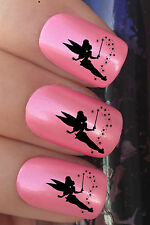 NAIL ART SET #646 x24 FAIRY TINKERBELL DUST FLOAT WATER TRANSFER DECALS STICKERS