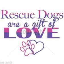 Rescue Dog Adoption HEAT PRESS TRANSFER for T Shirt Sweatshirt Tote Fabric 999g