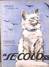 IL SECOLO XX 1 APRILE 1920 GOVERNO COMUNISTA BENGASI PRAGA GEORGE SAND ADA NEGRI