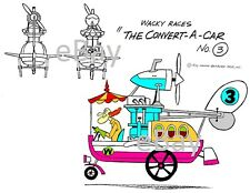 Hanna Barbera STYLE GUIDE PLATE - WACKY RACES - The CONVERT-A-CAR Prof Pending