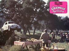 WALT DISNEY HERBIE GOES TO MONTE-CARLO 1977 VINTAGE LOBBY CARD #5  VW BEETLE
