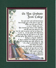 #143 Gift Present Keepsake Poem for a son or daughter's graduation.