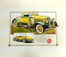 Ken Dallison 1931 Studebaker Four Seasons Cabriolet Classic Car Poster Art Print