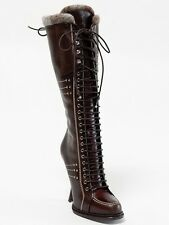 New  Dior Montagne Chocolate Hand Made Leather Boots 39.5 US 9.5