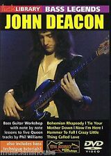 LICK LIBRARY Learn Bass Legends JOHN DEACON QUEEN BOHEMIAN RHAPSODY Guitar DVD