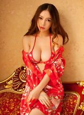 Women's Sexy Red Babydoll Sleepwear Lingerie G-string Underwear Nightwear Dress